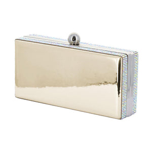 Lasi Gold Mirror Rhinestone Clutch