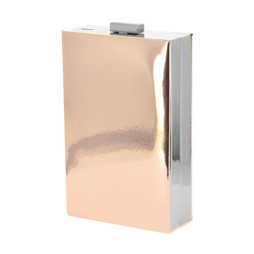 Mina Rose Gold Mirror Clutch