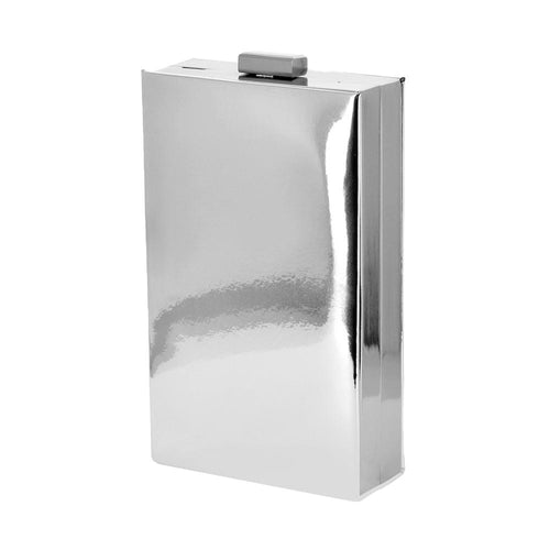 Mina Silver Mirror Clutch