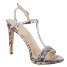 Murr Silver Snake Skin Mirror Sandal (Right View)