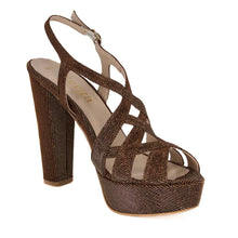 Peri Bronze Gold Platform Sandal (Right View)