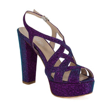 Peri Purple Aqua Platform Sandal (Right View)