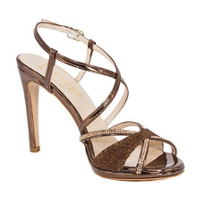 SADE Bronze Metallic Mirror Rhinestone Sandal (Right View)