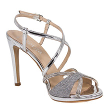 SADE Silver Metallic Mirror Rhinestone Sandal (Right View)