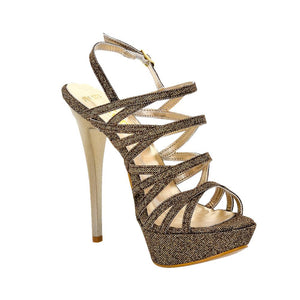 Selosh Gold Glitter Sandal (Right View)