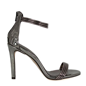 Susu Anthracite Mirror Sandal (Side View)