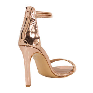 Susu Rose Gold Mirror Sandal (Back View)