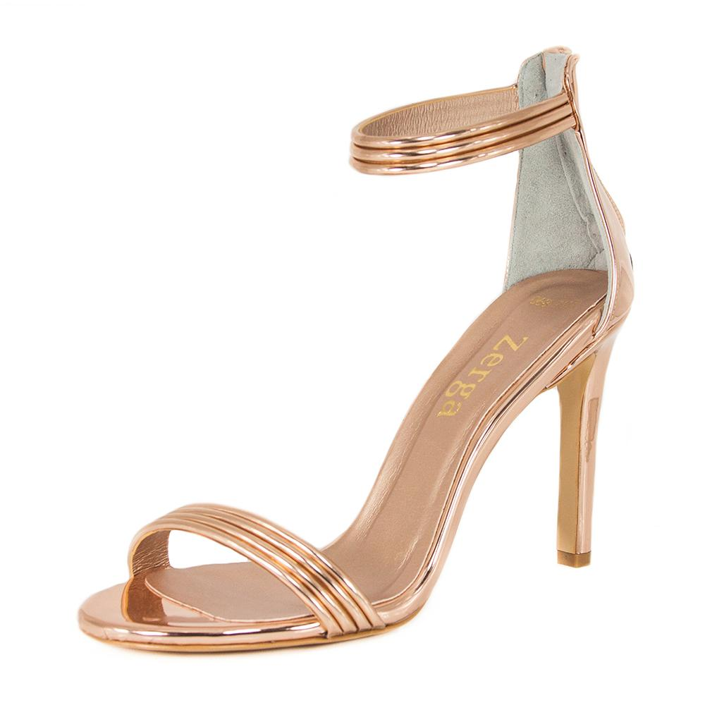 Susu Rose Gold Mirror Sandal (Left View)