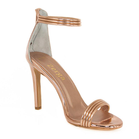 SUSU Rose Gold Mirror Wedding Sandal