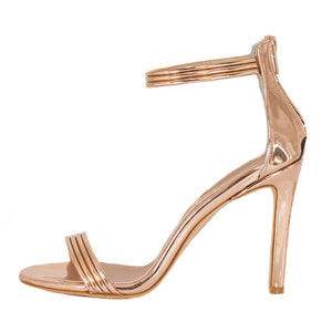 Susu Rose Gold Mirror Sandal (Side View)