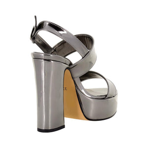 Tirre Anthracite Mirror Sandal (Back View)