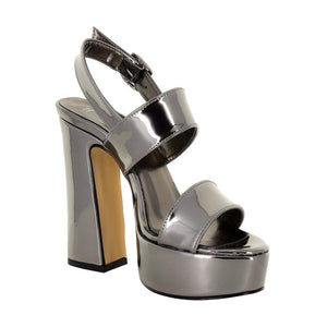 Tirre Anthracite Mirror Sandal (Right View)