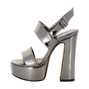 Tirre Anthracite Mirror Sandal (Side View)