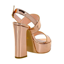 Tirre Rose Gold Mirror Sandal (Back View)