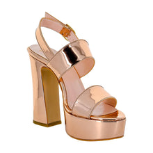 Tirre Rose Gold Mirror Sandal (Right View)
