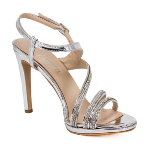 ZOLA  Silver Metallic Mirror Rhinestone Sandal (Right View)