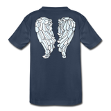 We Shall Overcome Wings Toddler Premium Organic Cotton T-Shirt - navy
