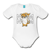 Buckley Num Num Organic Short Sleeve Baby Bodysuit - white