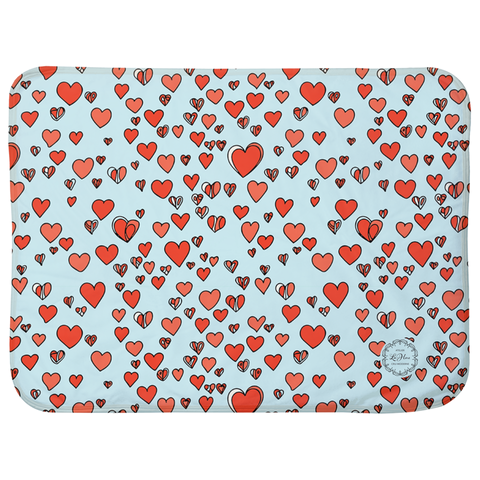 "Abstract Hearts Sherpa Blankets (Infant Sizes 30"" x 40"")"