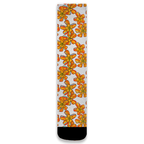 Tangerine Flower Socks