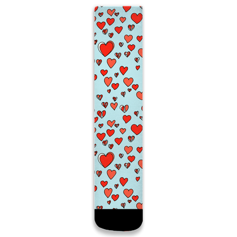 Abstract Hearts Socks