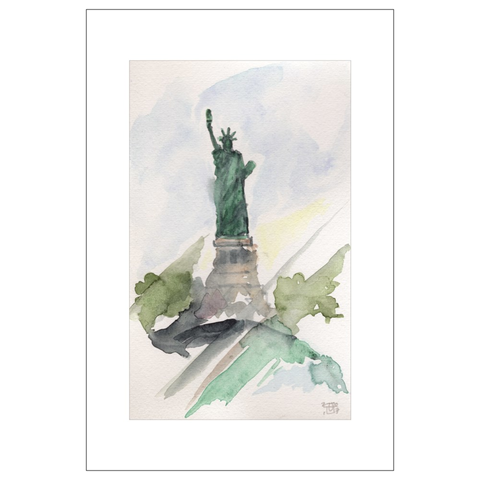 Liberty Weather, NYC Watercolor Postcards