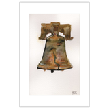 Liberty Bell Warm Hue Watercolor Postcards