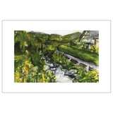 Running Brook St. Gilgen Watercolor Postcards