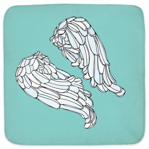 Turquoise XO Winged Hooded Baby Towels