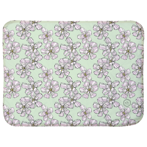 "Mint Reach Flowers Sherpa Blankets (Infant Sizes 30"" x 40"")"