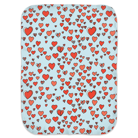 Abstract Hearts Swaddle Blankets