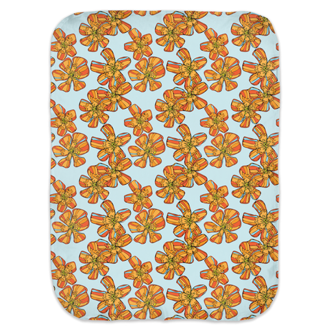 Pure Love Orange Flowers Swaddle Blankets
