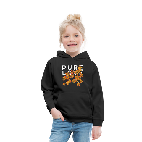Pure Love Aloha Flowers Kids' Premium Hoodie - black