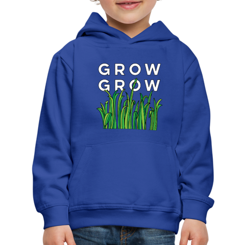 Grow Grow Wings Kids' Premium Hoodie - royal blue