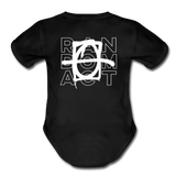 XO Random Act Organic Short Sleeve Baby Bodysuit - black