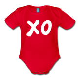 XO Random Act Organic Short Sleeve Baby Bodysuit - red