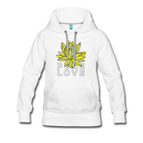 Pure Love Morning Lotus Women's Premium Hoodie - white