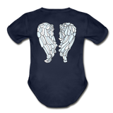 You Got This Bright Wings Organic Short Sleeve Baby Bodysuit - dark navy