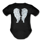 You Got This Bright Wings Organic Short Sleeve Baby Bodysuit - black