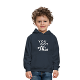 You Got This Wings Kids' Premium Hoodie - navy
