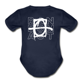 XO Random Act Organic Short Sleeve Baby Bodysuit - dark navy