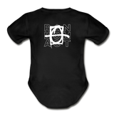 We Shall Overcome Random Act Organic Short Sleeve Baby Bodysuit - black