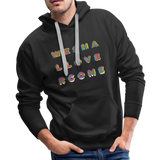 Rainbow We Shall Overcome Boyfriend Premium Hoodie - black