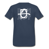 We Shall Overcome Random Act Men's Premium Organic T-Shirt - navy
