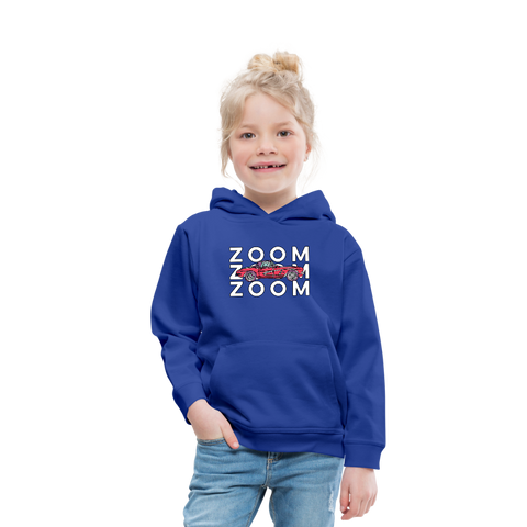 Zoom Zoom Little Red Corvette Kids' Premium Hoodie - royal blue