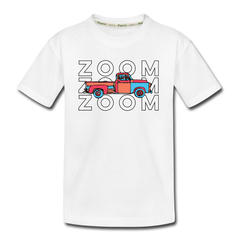 Zoom Old Truck Kid's Premium Organic T-Shirt - white