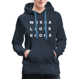We Shall Overcome Random Act Women's Premium Hoodie - navy