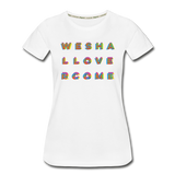 Rainbow We Shall Overcome Women's Premium Organic T-Shirt - white