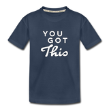 You Got This Wings Toddler Premium Organic Cotton T-Shirt - navy