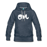 Vintage OM Random Act Women's Premium Hoodie - heather denim